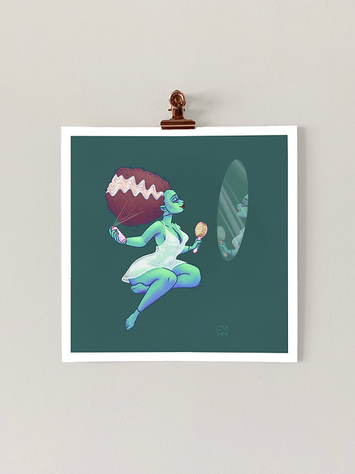 Mrs. Frankenstein Art Print