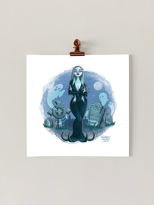 Cemetery Witch Art Print