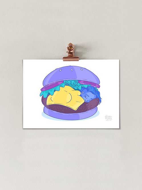 Comfort Food: Burger Art Print