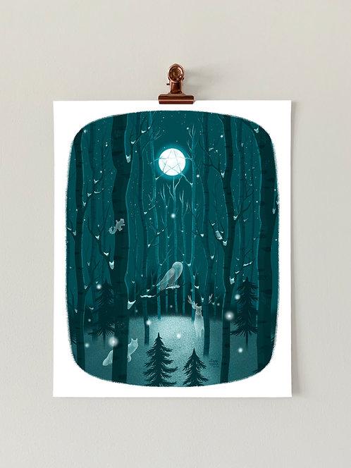 Winter Spirits Art Print