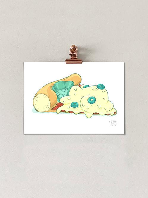 Comfort Food: Pizza Art Print