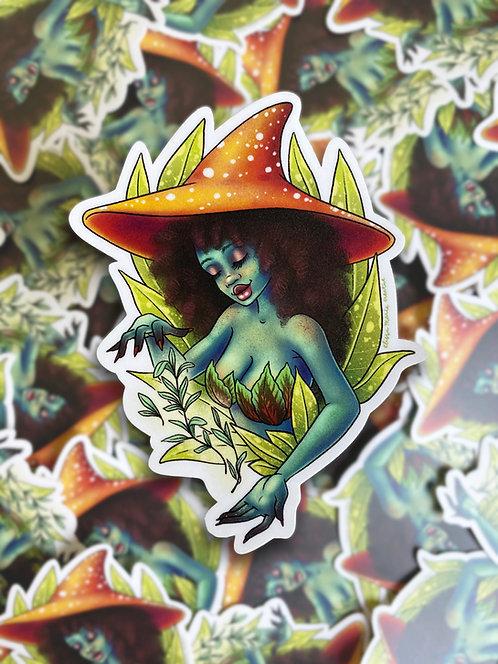 Plant Witch Sticker
