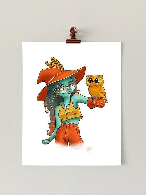 Owl Witch Art Print