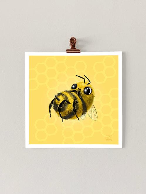 Smol Bee Art Print