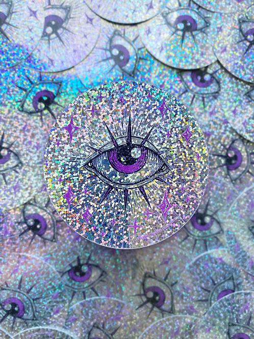Third Eye Glitter Sticker