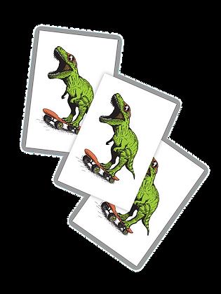 Skating Dinosaur - set of 3