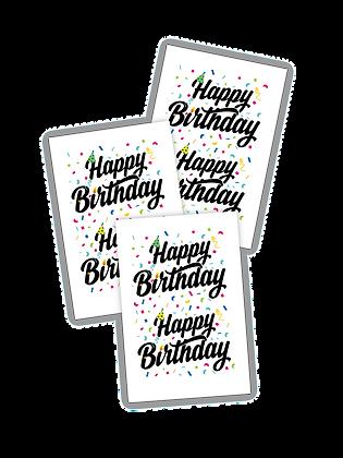 Happy Birthday - set of 6