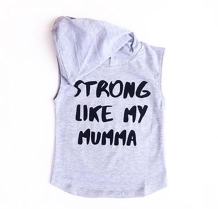 Strong like my mumma - Sleeveless hoodie
