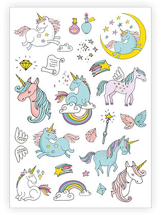 Unicorns sheet