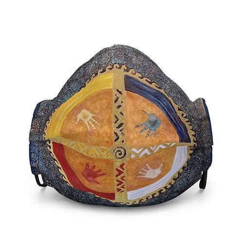 Blue Healing Hands Premium face mask