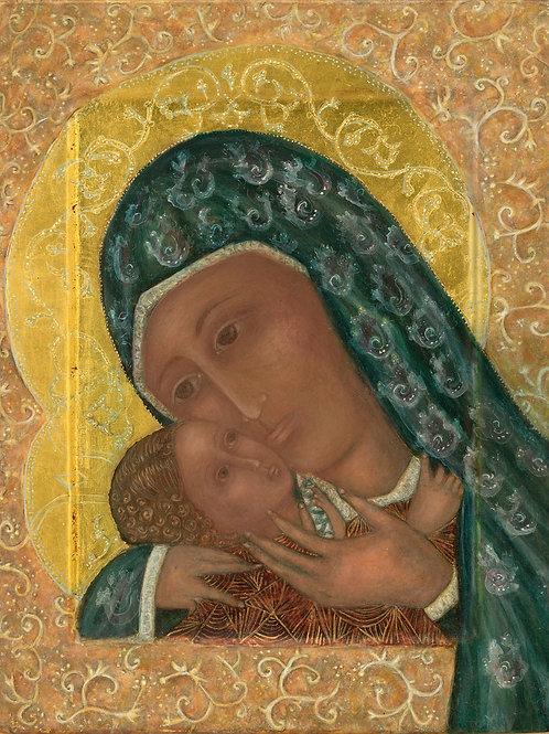 Blue Madonna and Child