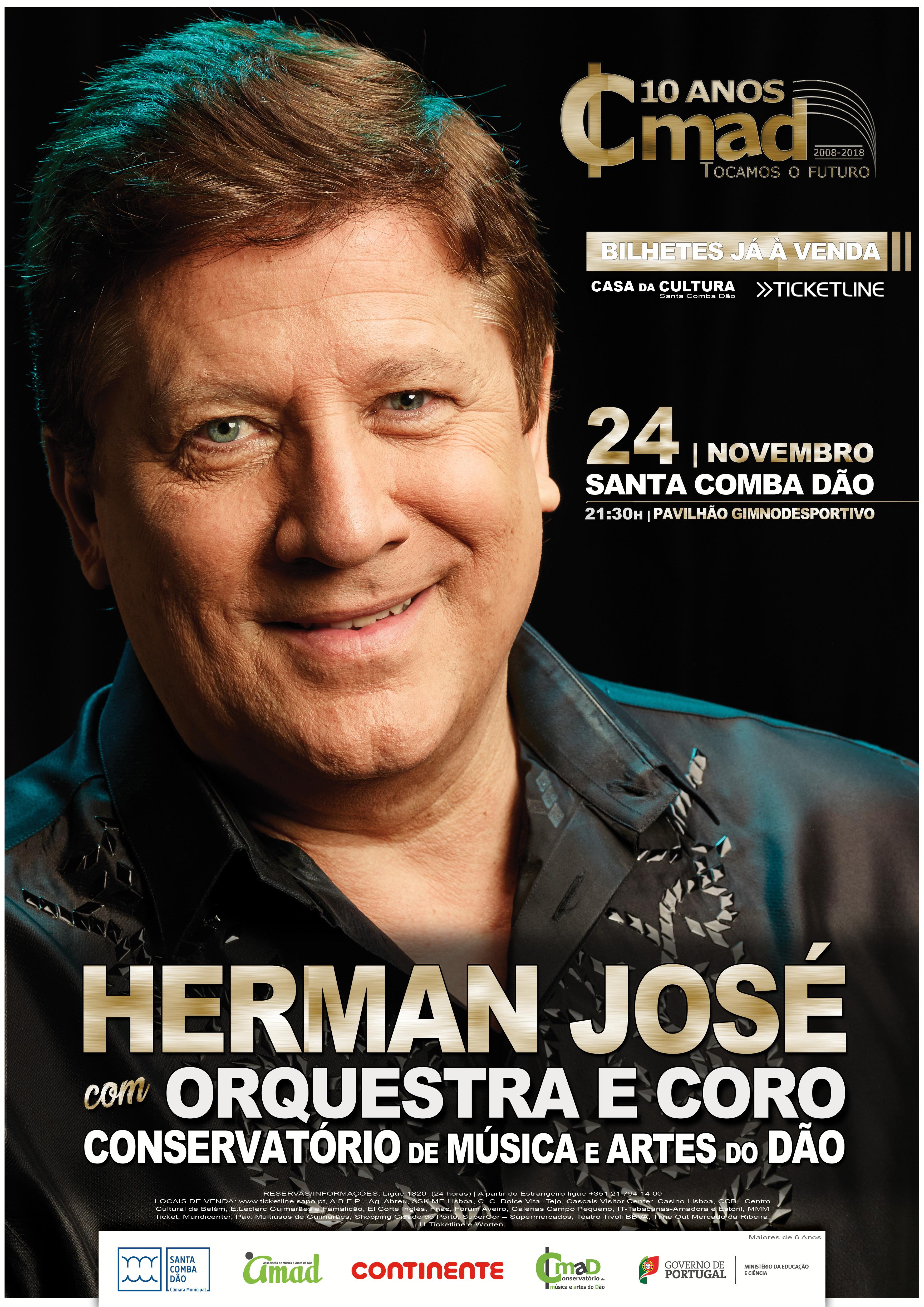 Herman José com a Orquestra e Coro do CMAD