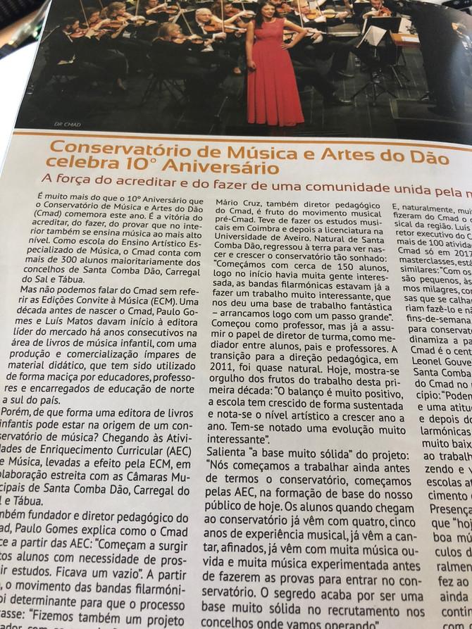 CMAD em destaque na edição deste mês da revista Musical Portuguesa - DA CAPO