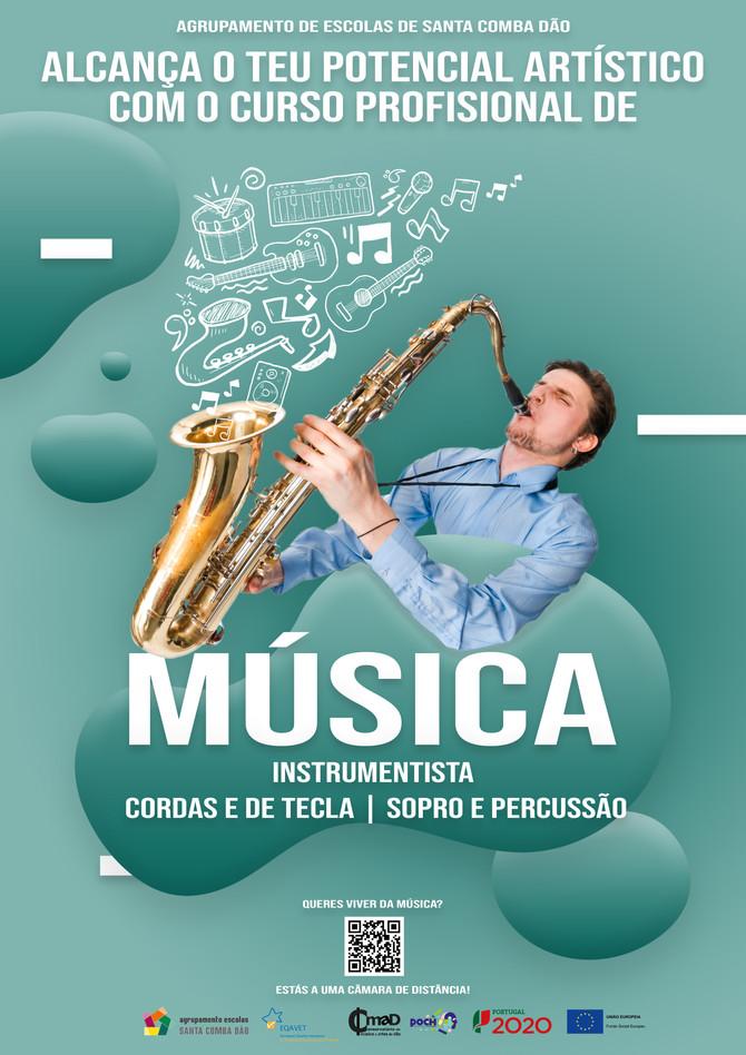 Curso Profissional de Música 2021/ 2022 - Faz já a tua inscrição!