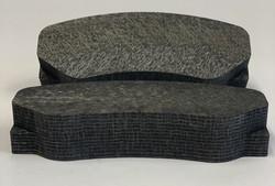 Carbon carbon brake pads