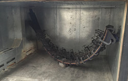 Large winch bands being bonded