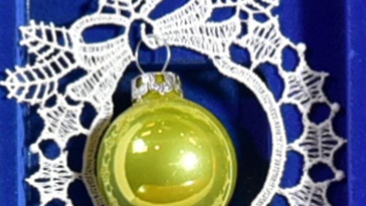 Weihnachtsanhanger - lace hangers - Green
