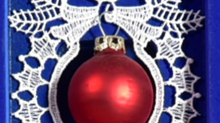 Weihnachtsanhanger - lace hangers - Red