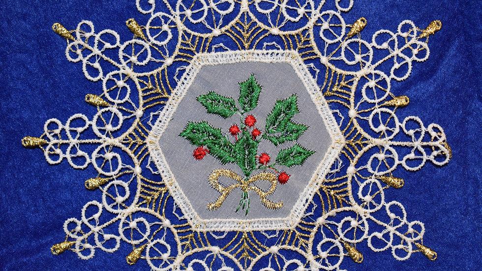 Spanbaumanhanger - Holly/Snowflake
