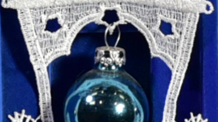 Weihnachtsanhanger - lace hangers - Blue