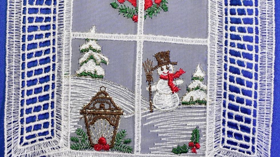 Fensterbilder - Schneemann / snowman