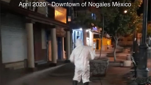 Sanitizing everyday Nogales Streets (International Border Nogales Arizona and Nogales México)