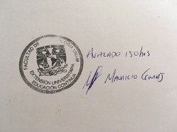 Stamp in the back of the Diploma