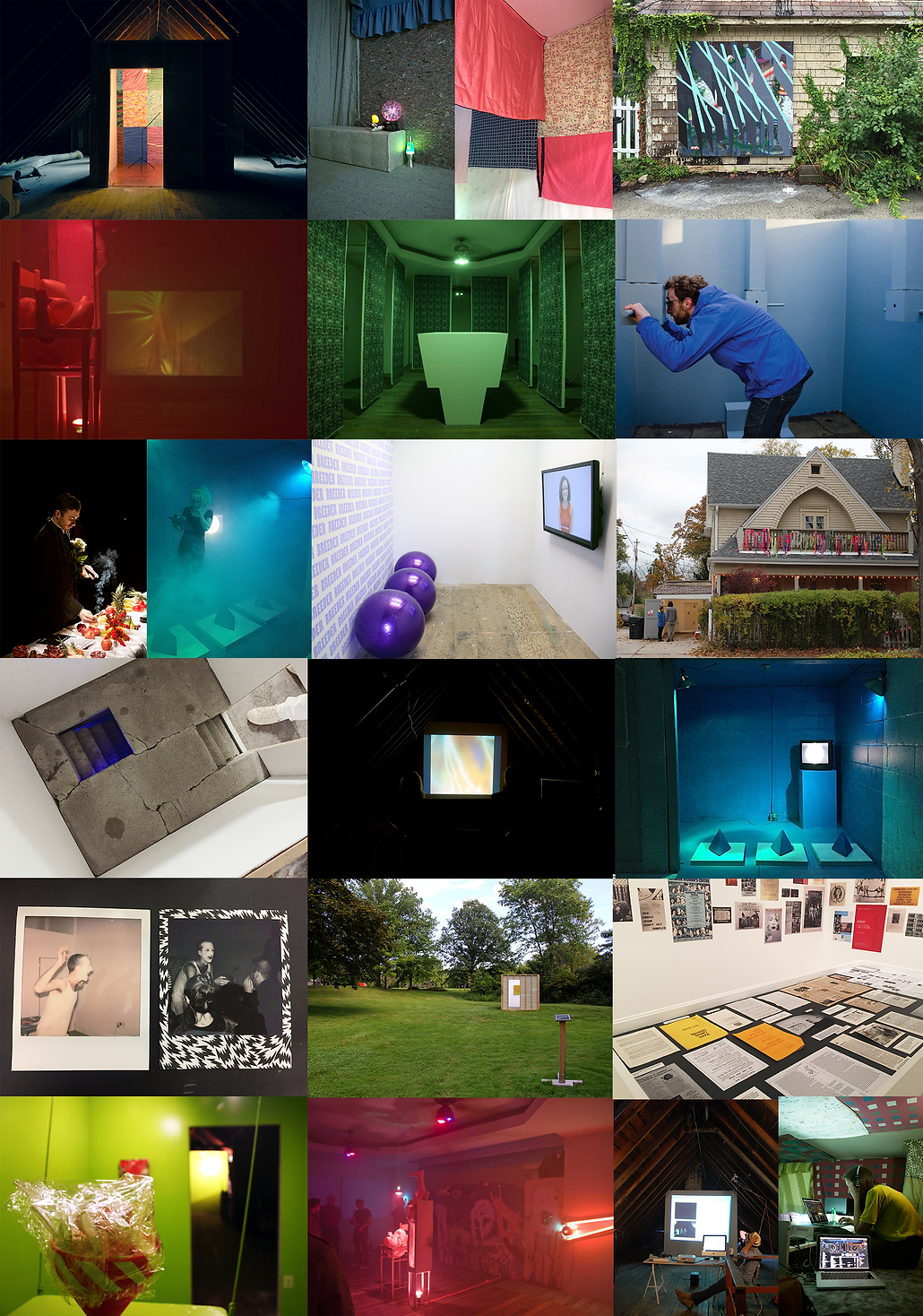 past curated exhibtions