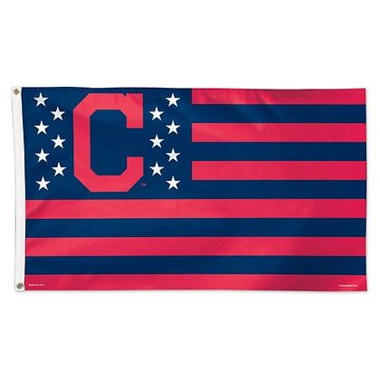 Cleveland Indians 3'x5' Deluxe Stars and Stripes