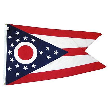 2'x3' Ohio nylon flag