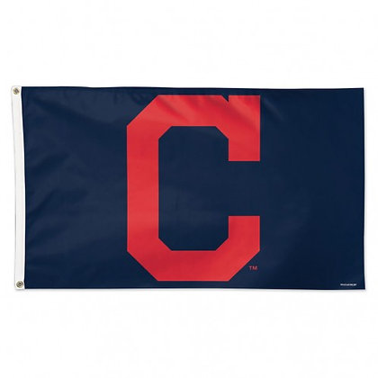 "Cleveland Indians ""C"" 3'x5' Deluxe flag"