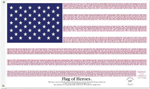 3'x5' Flag of Heroes
