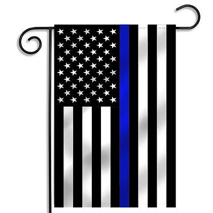 "U.S. Thin Blue Line Garden Flag 12""x18"""