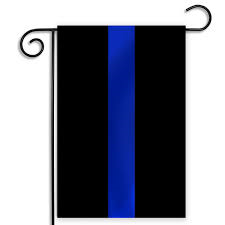 "Thin Blue Line Garden Flag 12""x18"""