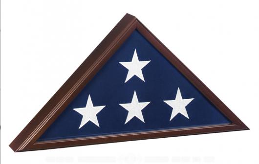 Veteran Flag Case/ Cherry Finish
