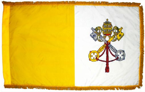 3'x5' Indoor Fringed Papal flag
