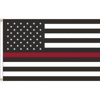 U.S. Thin Red Line 3'x5'