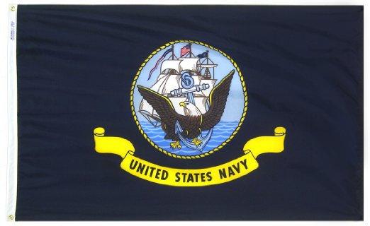 2'x3' U.S. Navy nylon flag