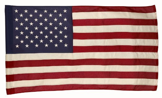 3'x5' U.S. nylon sleeved flag