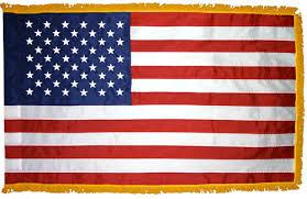 3'x5' Indoor U.S. Fringed flag