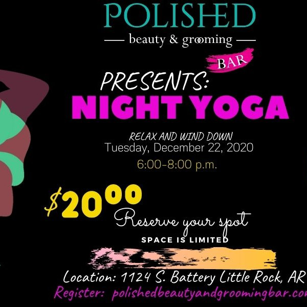 Night Yoga @ Polished Beauty and Grooming Bar