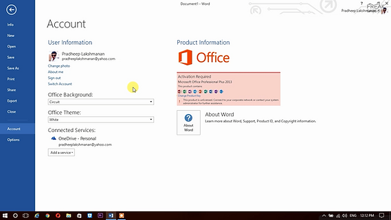 activate ms office 2013 command line