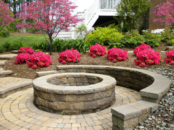 Fire Pit with Sitting Wall