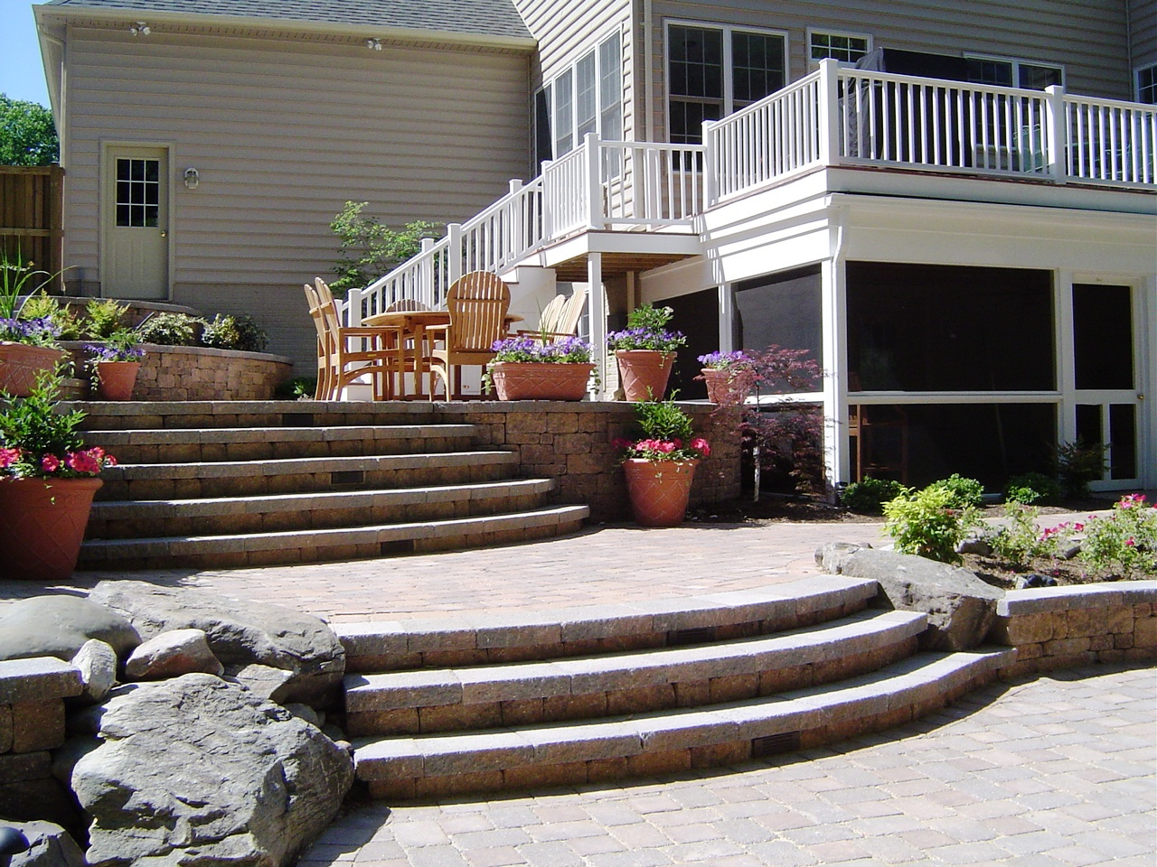 Paver Patio Steps