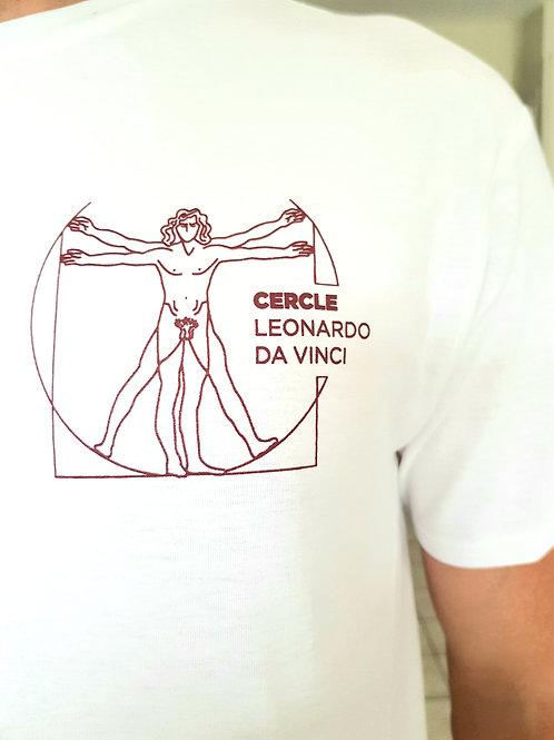 T-Shirt  Blanc logo rouge