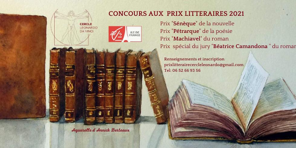 Prix littéraires du Cercle Leonardo da Vinci 2021