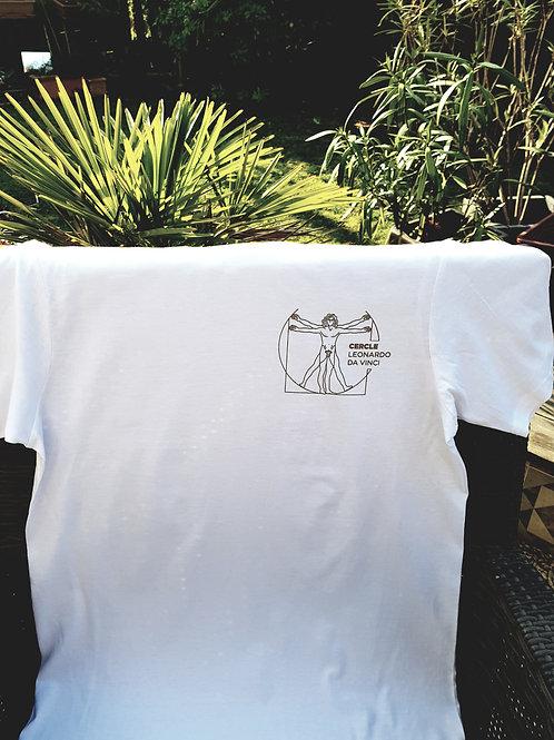 T-Shirt  blanc Edition Limité logo doré