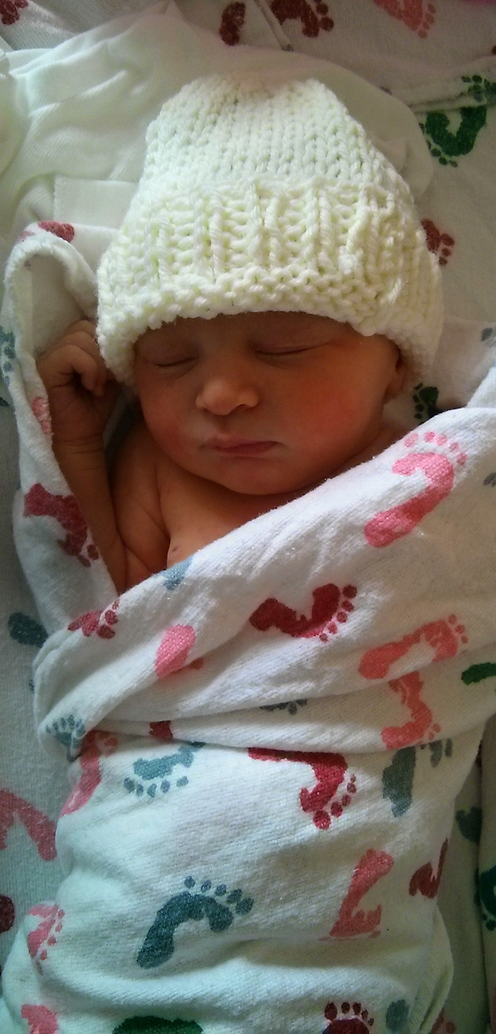 Photograph of baby born using hypnobirthing strategies