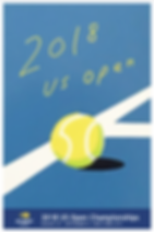2018 US Open poster- authentic!
