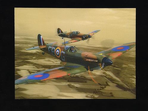 Lenticular Spitfire & Hurricane
